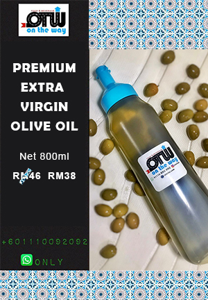 [OTW Sunnah Food] Premium Extra Virgin Olive Oil 800ml - زيت زيتون بكر درجة اولى